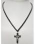 Collana pietre Ematite con Crocifisso