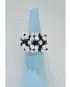 Anello con tessitura di simil Swarovski bianchi e neri