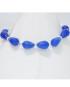 Bracciale argento con pietre Agata blu a goccia