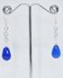 Orecchini argento con pietre Agata blu a goccia