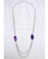 Collana argento con pietra Agata viola