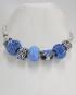 Bracciale tipo Pandora con charms blu
