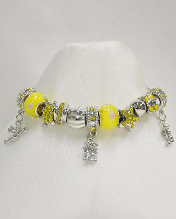 pandora bracciale giallo