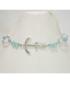 Bracciale argento con simil Swarovski azzurri