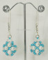 Orecchini con lavorazione perline azzurre e Perle bianche